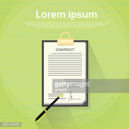Contract Sign Up Paper Document Pen Signature Office Desk