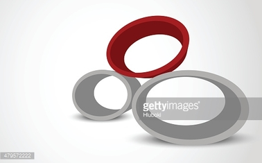 Abstract background with ellipse