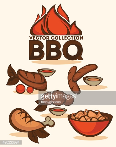 BBQ vector collection of emblems and illustrations