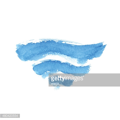 Vector illustration of abstract blue waves
