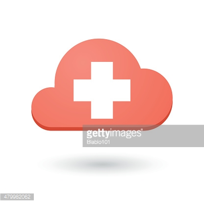 Cloud icon with a swiss flag