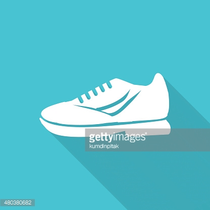 shoes flat icon with long shadow.