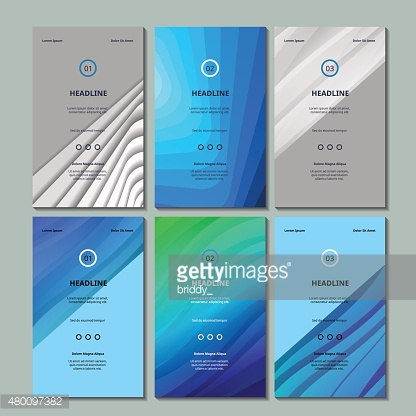 Set of Six Brochure, Design Templates. Abstract Geometric Lines
