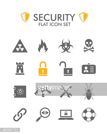 Vector Flat Icon Set - Security