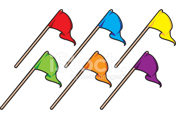 Six Colored Flags