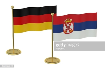 meeting Germany with Serbia concept