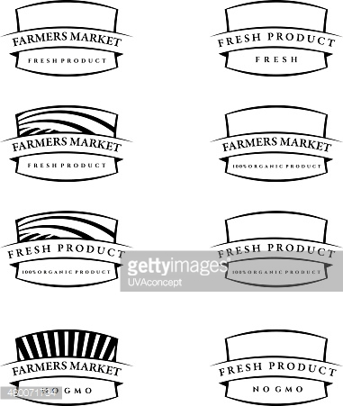 Set of illustration farm labels.Vector