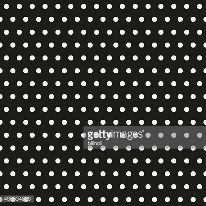 Seamless polka dot pattern on black paper