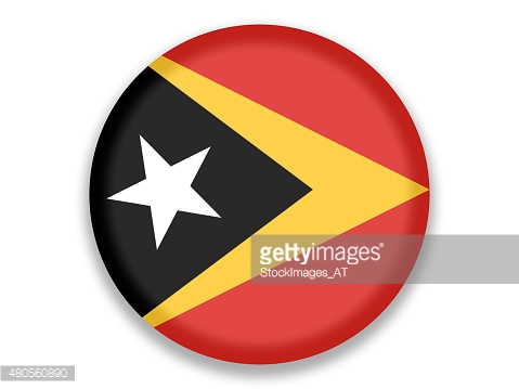 Button National Flag of East Timor