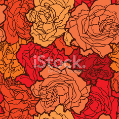 Seamless pattern with flowers rose