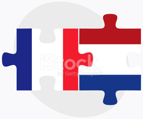 France and Netherlands Flags