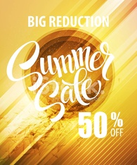 Summer Sale Poster. Vector illustration