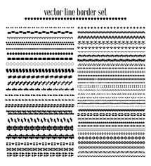 Vector lines, border divides set