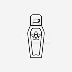 cosmetic bottles line icon
