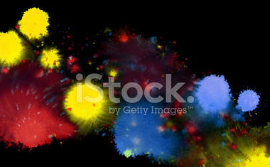 colored paint splatters