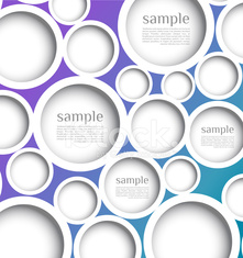 Abstract web design bubble with background