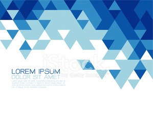 Abstract blue triangle modern template for media presentation
