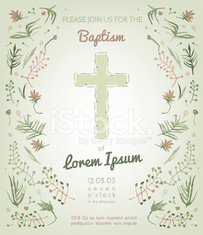 Baptism Invitation Card Stock Photos Vectorhq Com