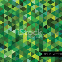 Abstract green triangle football field background