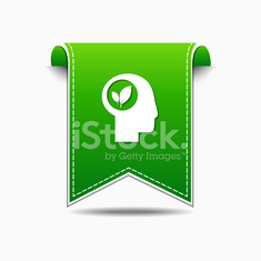 Think Green Green Vector Icon Design