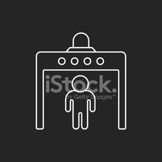 security gate line icon