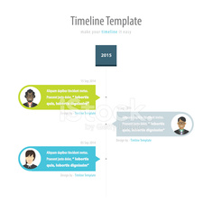 Timeline Infographic. With avatar. Vector design template.