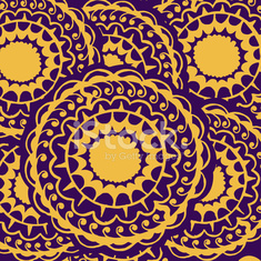 Abstract seamless with round gold pattern