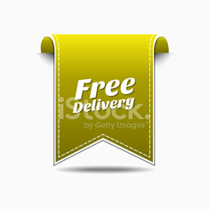 Free Delivery Yellow Vector Icon Design