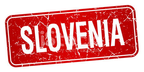 Slovenia red stamp isolated on white background