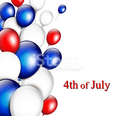 Independence day - background with balloons