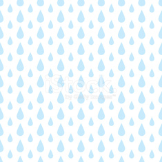 The pattern of blue drops of rain