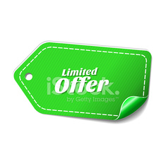 Limited Time Offer Green Vector Icon Design