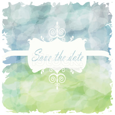 Light blue green tone with retro vintage style the date