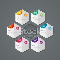 Infographic marketing icons, Business concept with 6 options