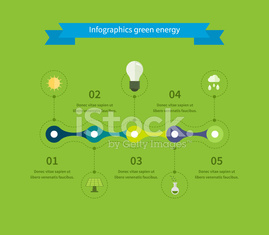 Flat design vector concept illustration with icons of ecology, environment