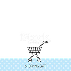 Shopping cart icon. Market buying sign.