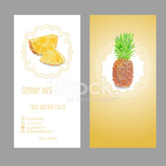 Business card with fruit.