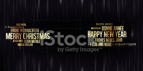 Merry Christmas and Happy New Year golden black