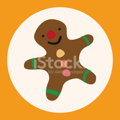 Christmas gingerbread man flat icon elements background,eps10