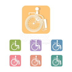 Disabled icon vector design