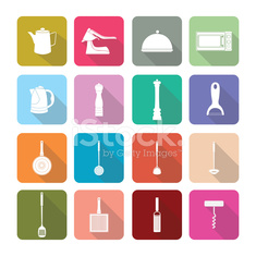 Home appliances icons in flat design set 2