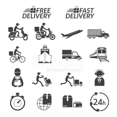 Delivery Monochrome Icons Set