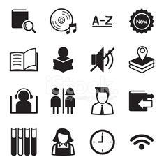 Library icons Illustration symbol Vector