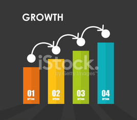 Financial growth design.