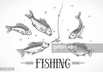 Illustration about fishing.