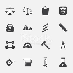 measuring icons set.vectorillustration.