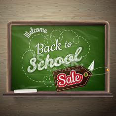 School board Sale. EPS 10