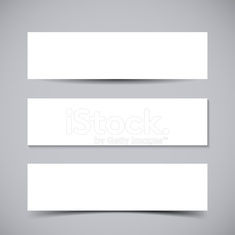 Banners with shadows
