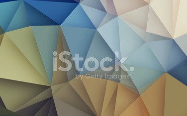 Abstract 3D geometric retro origami background nature tone