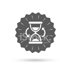 Hourglass sign icon. Sand timer symbol